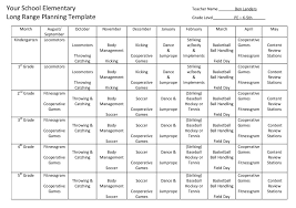 year long lesson plan template
