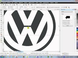 first volkswagen logo logotipo volkswagen en corel draw youtube