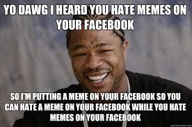 Hate Meme - memes about hating memes xzibit meme yo dawg i heard you hate