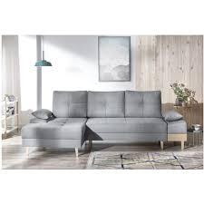 canapé sans accoudoir canape d angle convertible sven i gauche pieds et accoudoir en bois