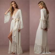 Full Length Bathrobe Elegant Long Sleeves Cheap Bridesmaid And Bride Robes Custom Made