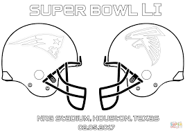 nfl football helmet coloring pages super bowl li new england patriots vs atlanta falcons coloring