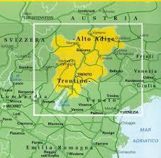 Bolzano Italy Map by Alto Adige