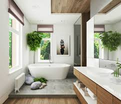 Tropical Decor Tropical Bathroom Decor White Stained Wall Wooden Free Standing