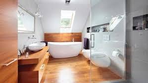 wood bathroom ideas wooden floor in 20 bathroom designs rilane with bathrooms