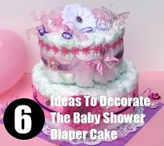 ideas to decorate the baby shower diaper cake how to decorate