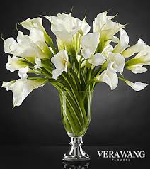cala lillies the ftd musings luxury calla bouquet by vera wang vase
