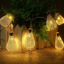 cheap 2017 metal yellow led string light garland
