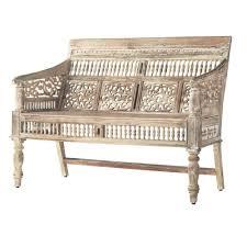 Home Decorators Bench Home Decorators Collection Maharaja Sandblasted White Bench