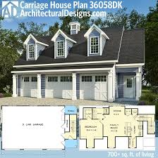 house plans with separate apartment plan 36058dk 3 car carriage house with dormers plans separate