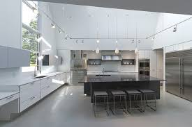 Kitchen Design Massachusetts Modern Massachusetts Forest House With Two Story Ceilings
