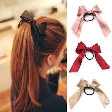 ribbon hair ties bow elastic hair ties hair band hair ribbon ties hair rope satin