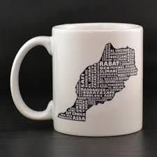 morocco mug morocco typography map custom coffee mug
