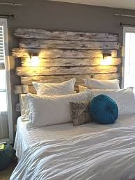 Pallet Wood Headboard Diy Pallet Headboard With Lights Pallet Wood Projects Feedpuzzle
