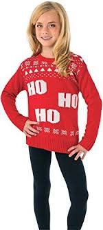 christmas story leg l amazon rubies costume ho ho ho ugly christmas sweater costume one color