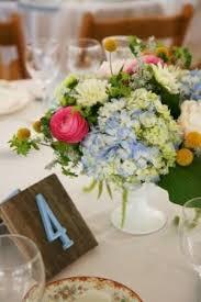 Hydrangea Centerpiece Ranunculus Centerpiece Blue Hydrangea Centerpiece Floral