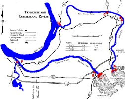 cumberland river map tennessee river dam to of clarks river