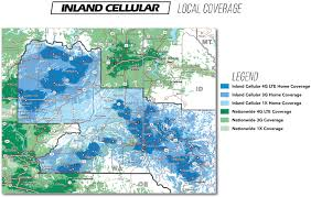 T Mobile Mexico Coverage Map by Coverage Map Inland Cellular
