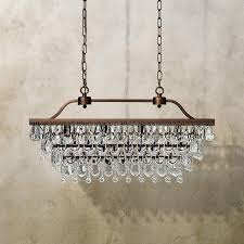 Rectangle Chandeliers Anabella Rectangle Chandelier In Antique Gold Arhaus Furniture