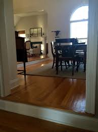 Kitchen And Living Room Flooring Ideas by Treacherous Step Down From Living Room Into Dining Room