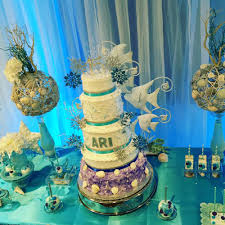 winter and under the sea quinceañera party ideas