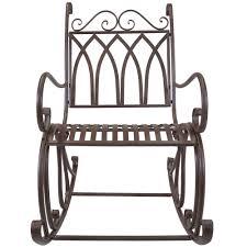 John Deere Rocking Chair Titan Outdoor Metal Rocking Chair White Porch Patio Garden Seat