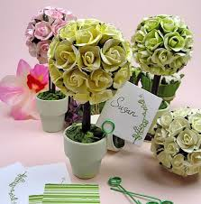 Paper Rose Topiary - top 10 garden wedding theme favors