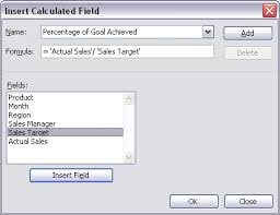Excel 2010 Pivot Table Excel Use Formula In Custom Calculated Field In Pivot Table