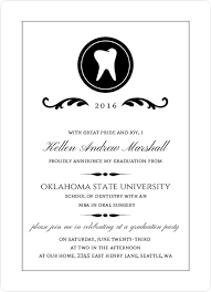 commencement announcements dental school graduation announcement wording