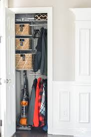 organized foyer coat closet before and after makeover kelley nan