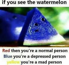 Watermelon Meme - dopl3r com memes it you see the watermelon red then youre a