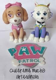 skye everest paw patrol cake topper cold porcelain patrulha