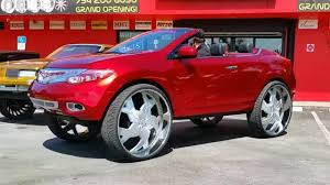 nissan crosscabriolet yes this is a nissan murano convertible on 34 inch wheels top gear