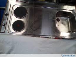 evier inox cuisine cuisine evier inox 1 bac avec deux plaques électrique a vendre