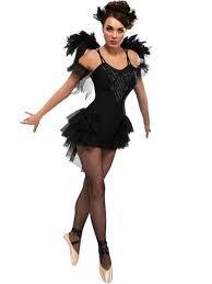 black swan costume gothic masquerade fancy dress womens halloween