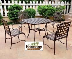 Refinishing Wrought Iron Patio Furniture by Top Patio Furniture Metal Sets Artistic Color Decor Contemporary
