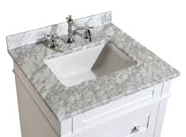 kitchen bath collection kbc l24wtcarr eleanor bathroom vanity with kitchen bath collection kbc l24wtcarr eleanor bathroom vanity with marble countertop cabinet with soft close function undermount ceramic sink 24