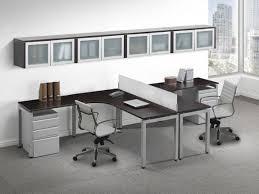 T Shape Desk Images Of Contemporary 2 Person T Shape Desk Glass Accent Storage