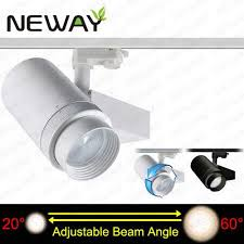 pro track lighting manufacturer 40w 20 60 degree beam angle adjustable led track lighting indoor