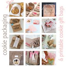 free printable cookie gift bags u0026 packaging ideas