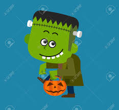 cute halloween character frankenstein royalty free cliparts