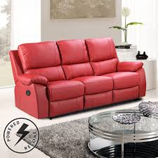 Power Sofa Recliners Leather by Cameo Vibrant Red Leather Power Recliner Sofa Collection With Usb