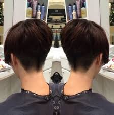 short hairstyle back view images most graceful short hairstyles for thin hair back view