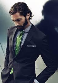 men u0027s black suit grey plaid dress shirt green polka dot tie