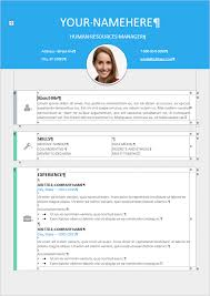 Modern Resume Sample by Le Marais Free Modern Resume Template
