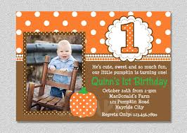 First Birthday Invitation Cards For Boys Fall Pumpkin Birthday Invitation Pumpkin 1st Birthday Party