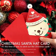 10pcs bag cute handmade cartoon santa claus christmas bear