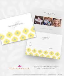 photographer gift certificate photoshop template ikat inspired