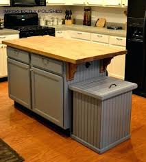 kitchen island with garbage bin kitchen island with trash bin medium size of alone kitchen