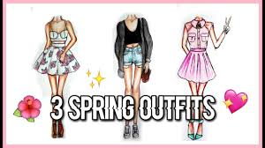 how to draw 3 spring fashion illustration girly